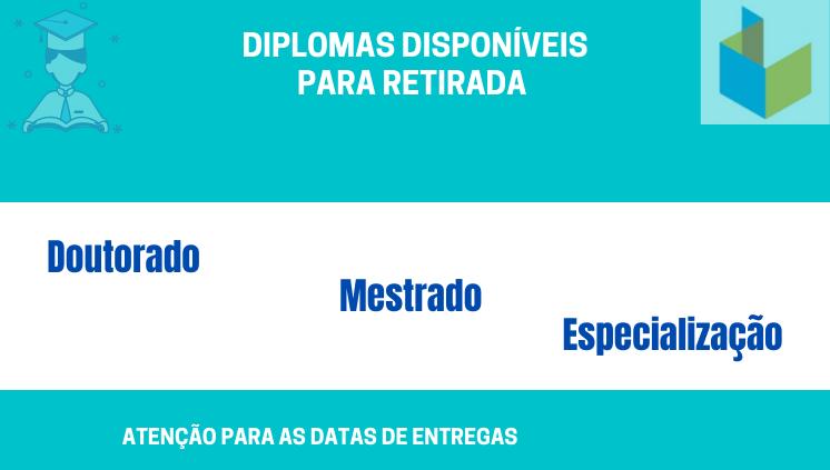 Datas de entregas de Diplomas e Certificados pela Propesp