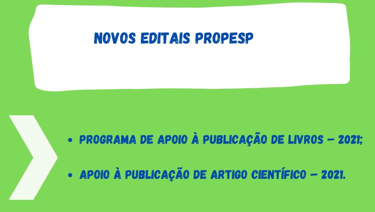 Auxílio à Publicação de Livros e Auxílio à Publicação de Artigos