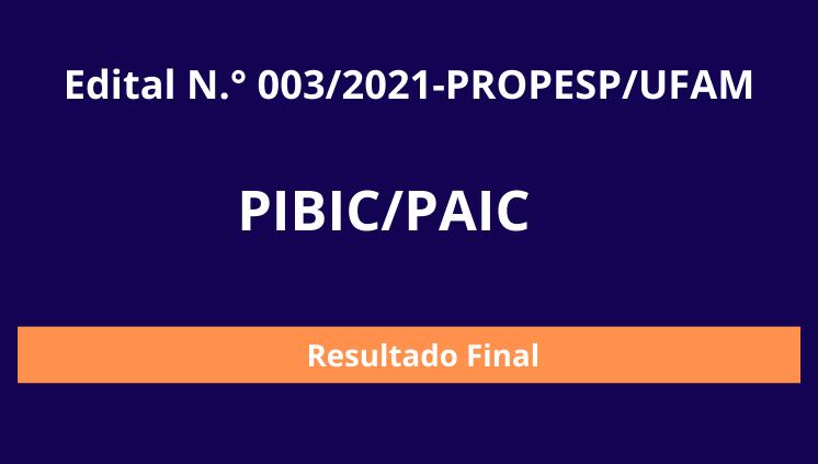 PIBIC/PAIC 2021/2022
