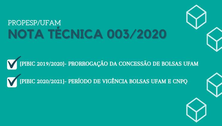 NOTA TÉCNICA 03/2020 - PROPESP/UFAM
